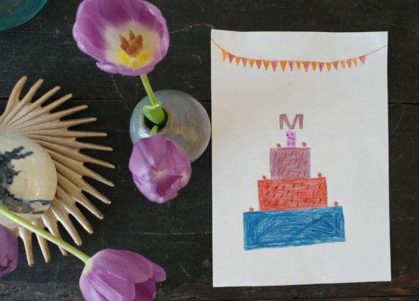 Moederdag actie | win een kinder tekening taart